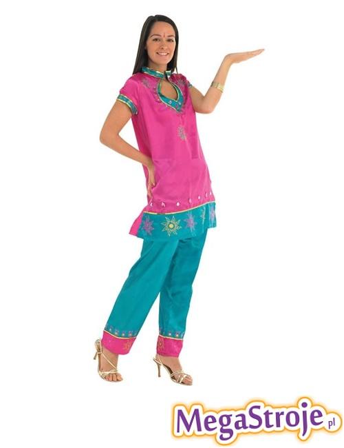 Kostium Tancerki Bollywood różowo-niebieski